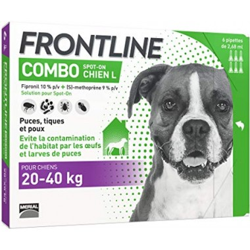 Frontline combo chien l 20-40kg 6 pipettes disponible sur Pharmacasse