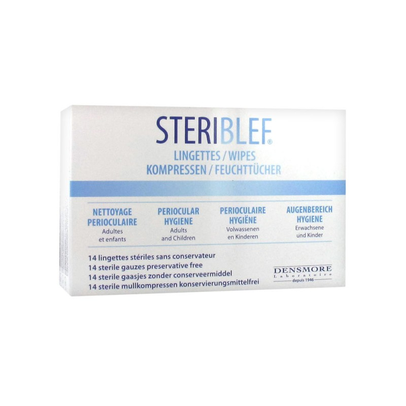 STERIBLEF 14 lingettes disponible sur Pharmacasse