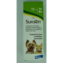 Surolan suspension auriculaire 15 ml