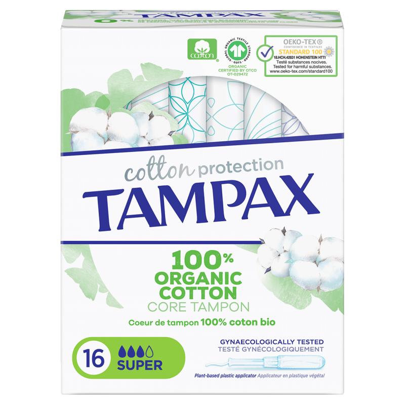 TAMPAX Tampons Cotton Protection Super bt 16 disponible sur Pharmacasse