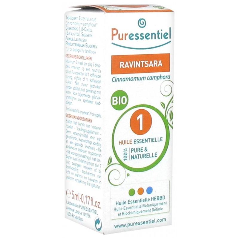 Puressentiel huile essentielle ravintsara bio 5ml disponible sur Pharmacasse