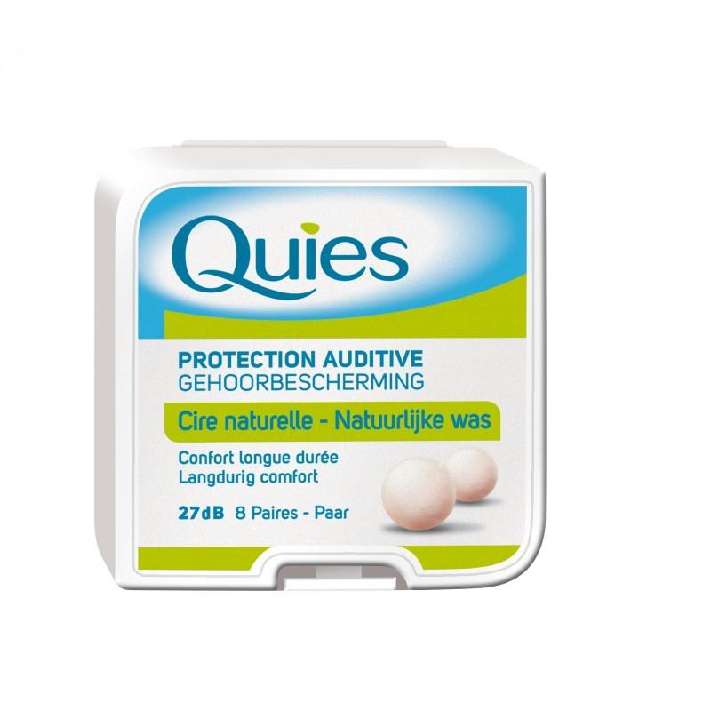 QUIES Protection auditive en cire naturelle 8 paires disponible sur Pharmacasse