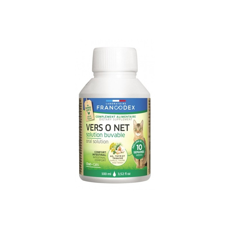 Francodex vers O net solution buvable chatons/ chats 100ml disponible sur Pharmacasse