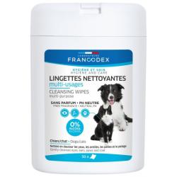 Francodex lingettes nettoyantes multi-usages chiens/chats boite de 50