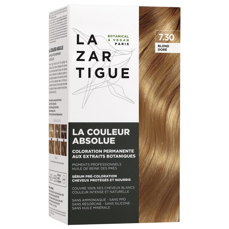 Lazartigue la couleur absolue - coloration : 7.30 Blond doré disponible sur Pharmacasse