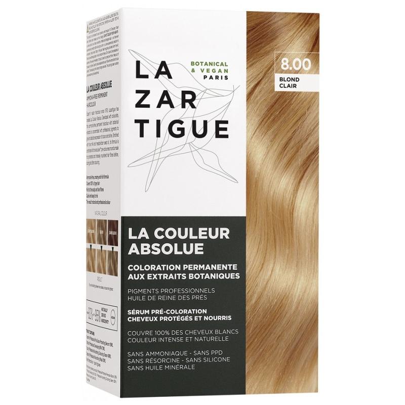 Lazartigue la couleur absolue - coloration : 8.00 Blond clair disponible sur Pharmacasse