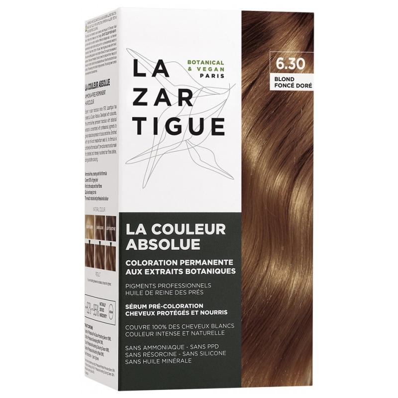 Lazartigue la couleur absolue coloration : 6.30 Blond foncé doré disponible sur Pharmacasse