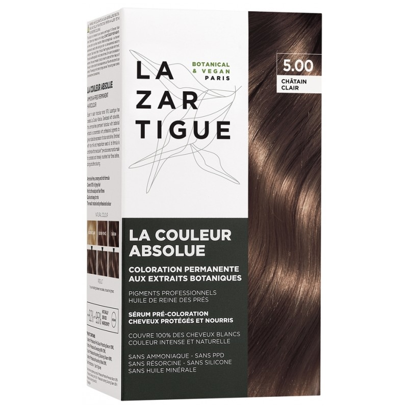 Lazartigue la couleur absolue Coloration : 5.00 Châtain clair disponible sur Pharmacasse