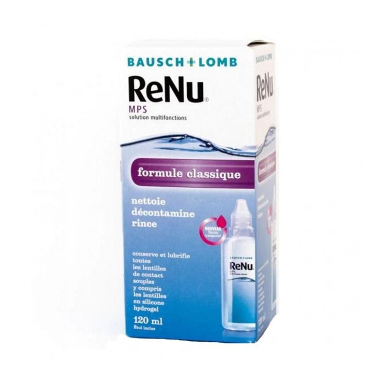 Mps solution multifonctions formule classique Renu 120ml disponible sur Pharmacasse