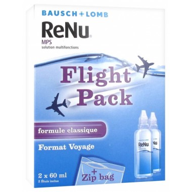 Bausch lomb renu mps solution multifonctions special avion lot de 2 x 60ml