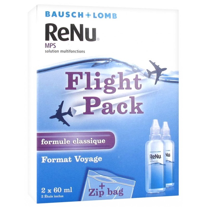 Bausch lomb renu mps solution multifonctions special avion lot de 2 x 60ml disponible sur Pharmacasse