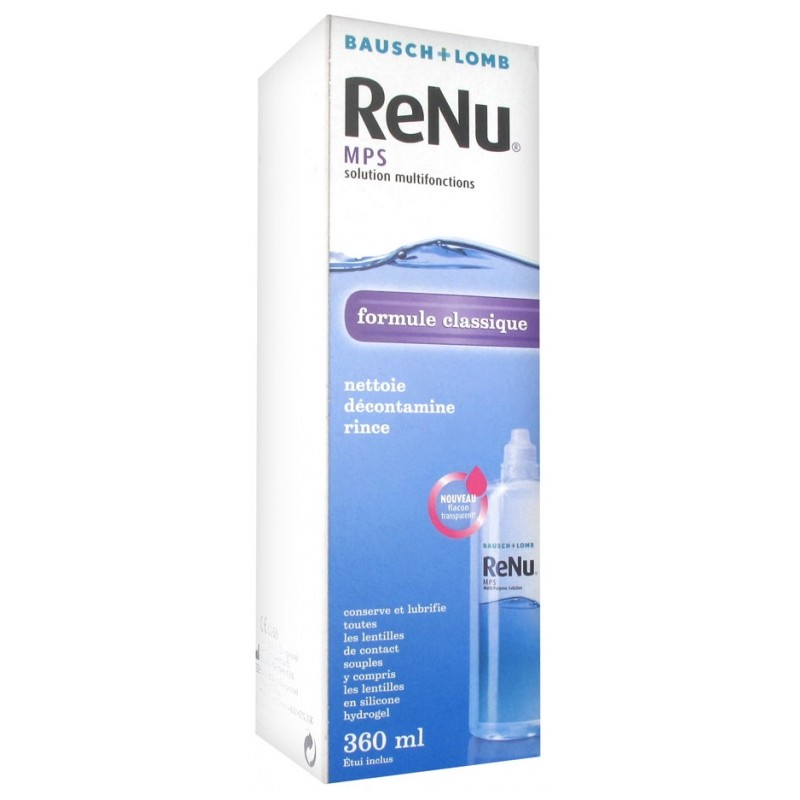 Bausch lomb renu mps solution multifonctions 360ml disponible sur Pharmacasse