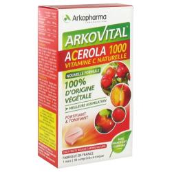 Arkopharma arkovital acerola 1000 30 comprimes à croquer