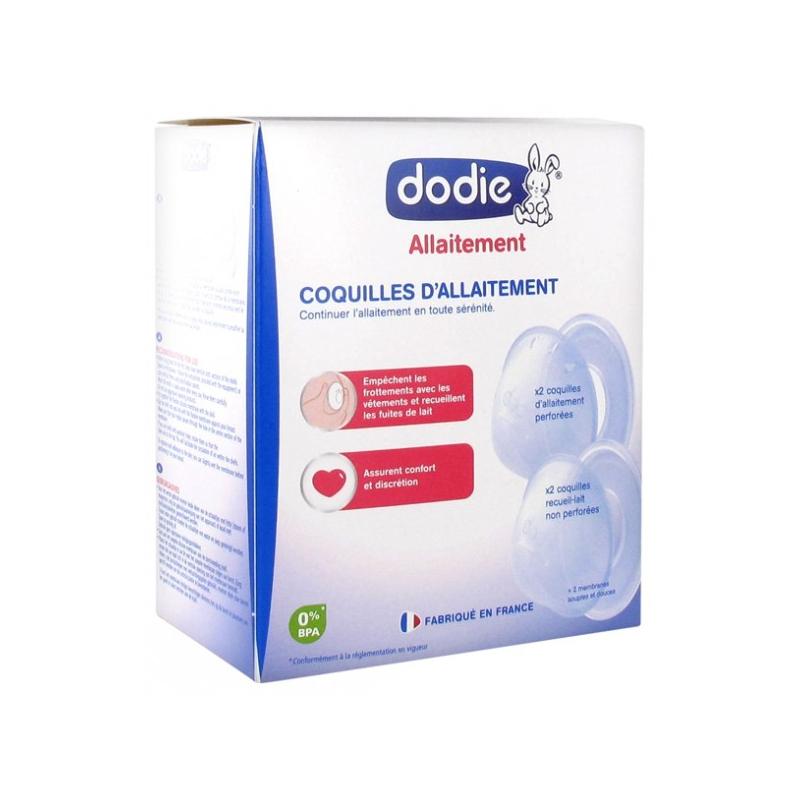 Dodie allaitement 4 coquilles d'allaitement disponible sur Pharmacasse