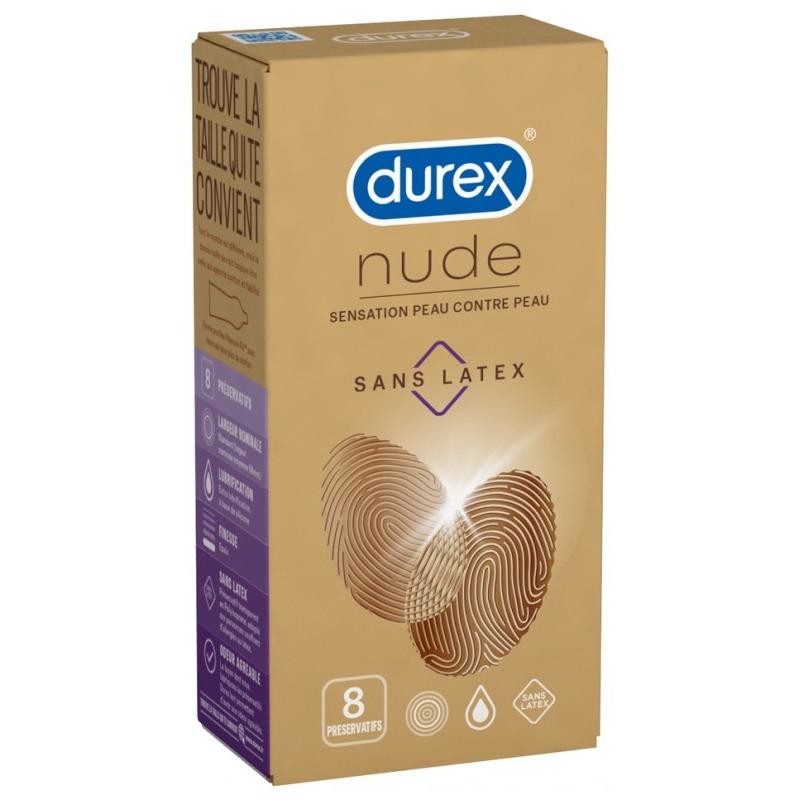 Durex nude sans latex 8 préservatifs disponible sur Pharmacasse