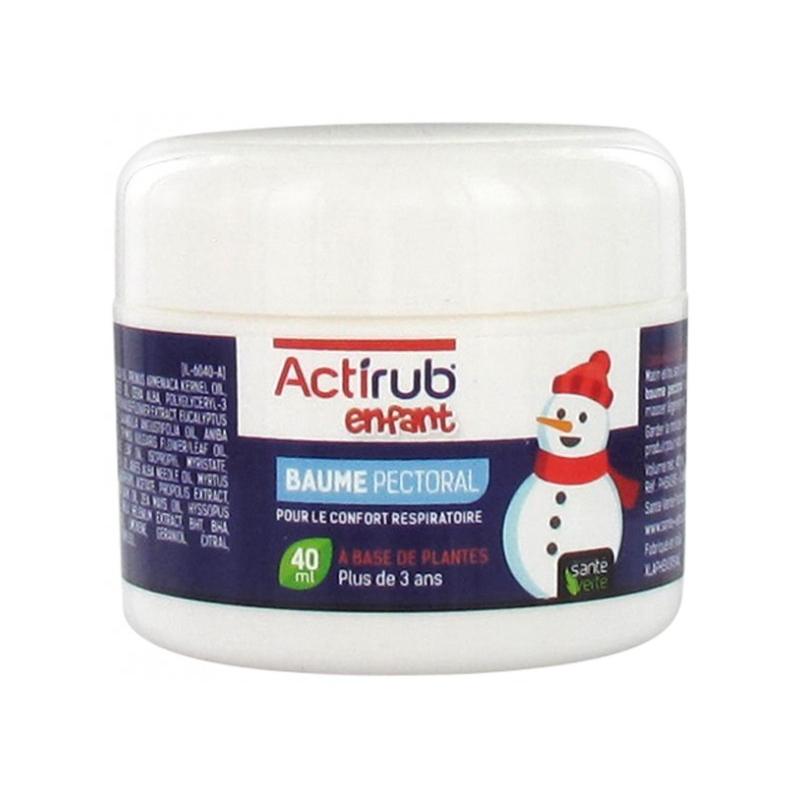 Santé verte actirub baume pectoral 40ml disponible sur Pharmacasse