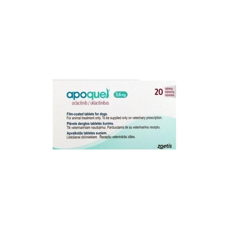 Apoquel 3.6mg Boîte de 20 comprimés disponible sur Pharmacasse