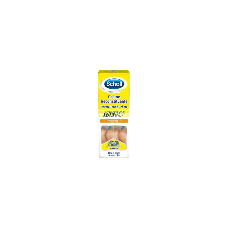 Scholl Crème Anti-crevasses Active Repair K+ 120 ml disponible sur Pharmacasse