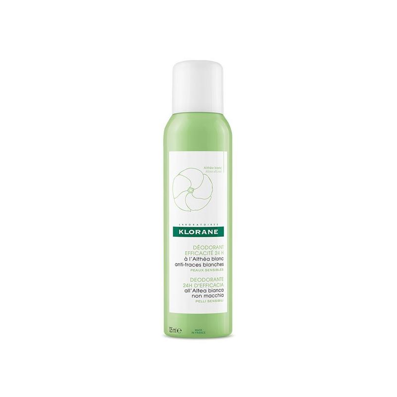 KLORANE Déodorant spray à l'Althéa blanc 125ml disponible sur Pharmacasse