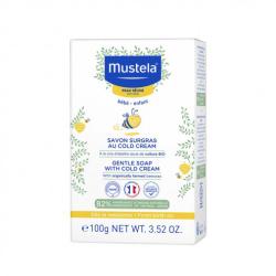 MUSTELA Savon Surgras au Cold Cream à la cire d'abeille Bio 100 g