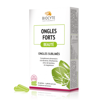 Biocyte Ongles Fort 40 gélules