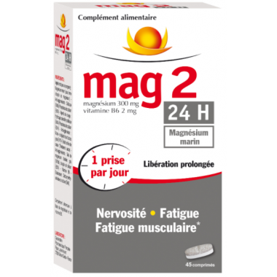 MAG 2 Magnésium Marin 24h 45 comprimés