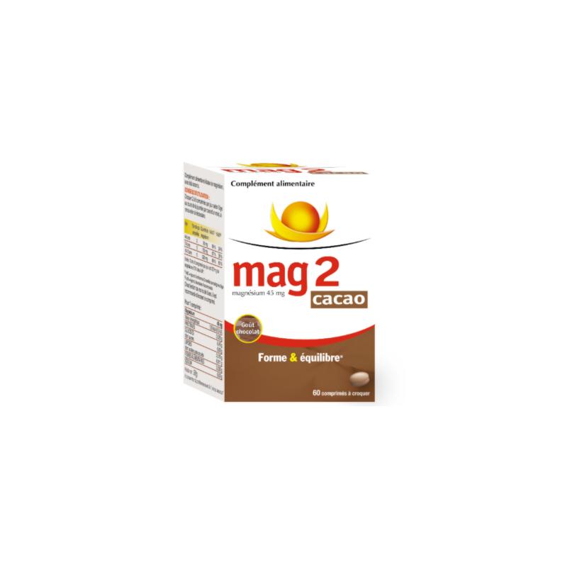 MAG 2 Cacao 60 comprimés à croquer disponible sur Pharmacasse