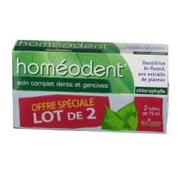 Homéodent Soin complet dents et gencives Chlorophylle Lot de 2 tubes de 75ml