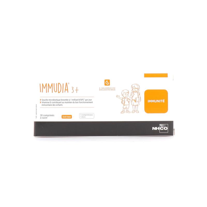 Nhco Immudia 3+ Boîte de 30 Comprimés à sucer disponible sur Pharmacasse