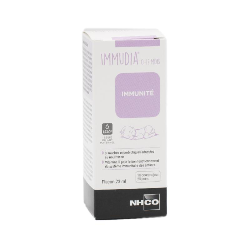 Nhco Immudia 0-12 mois Gouttes buvables Flacon de 23ml disponible sur Pharmacasse