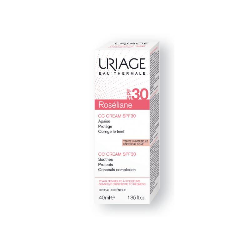 Uriage Roséliane CC Crème Spf 30 Teinte Universelle 40ml disponible sur Pharmacasse