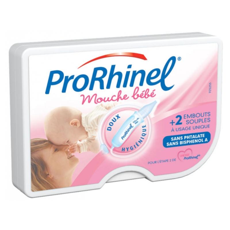 Prorhinel Mouche Bébé + 2 embouts souples disponible sur Pharmacasse