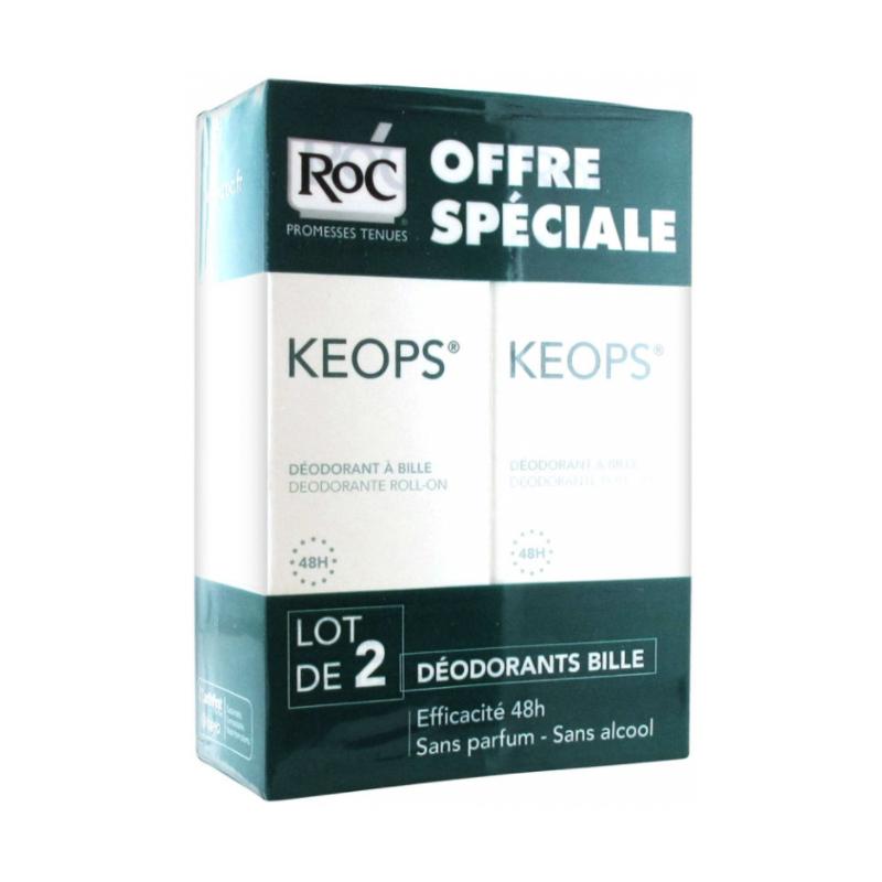 ROC Keops Déodorant Roll-on Lot de 2x40 ml disponible sur Pharmacasse