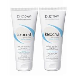 DUCRAY KERACNYL duo gel moussant tube lot de 2X200ml
