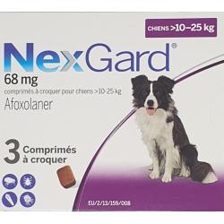 Nexgard 68mg Chiens 10-25kg...