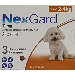 Nexgard 11mg Chiens 2-4kg...