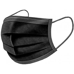 50 Masques Chirurgicaux Noirs 3 plis