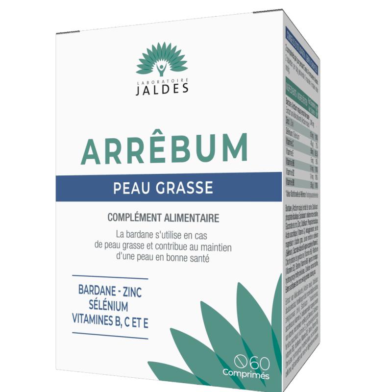 Arrêbum Jaldes Peau Grasse Boîte de 60 comprimés disponible sur Pharmacasse