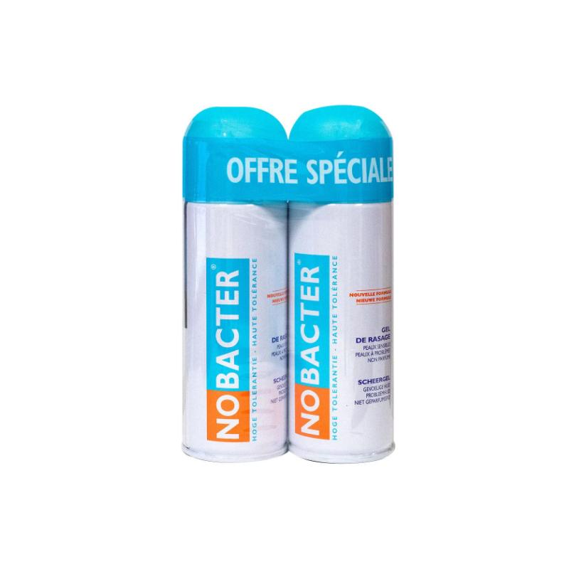Nobacter Gel de Rasage Lot de 2x150 ml disponible sur Pharmacasse