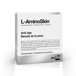 Nhco L-Aminoskin 56 gélules matin + 56 gélules soir disponible sur Pharmacasse