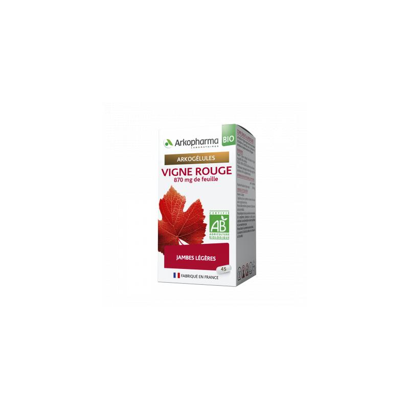 Arkogélules Bio Vigne Rouge Boîte de 45 gélules disponible sur Pharmacasse