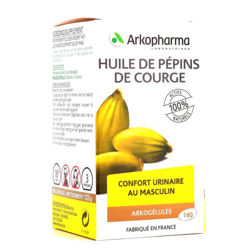 Arkogélules Bio Huile De Pépin De Courge 180 capsules disponible sur Pharmacasse