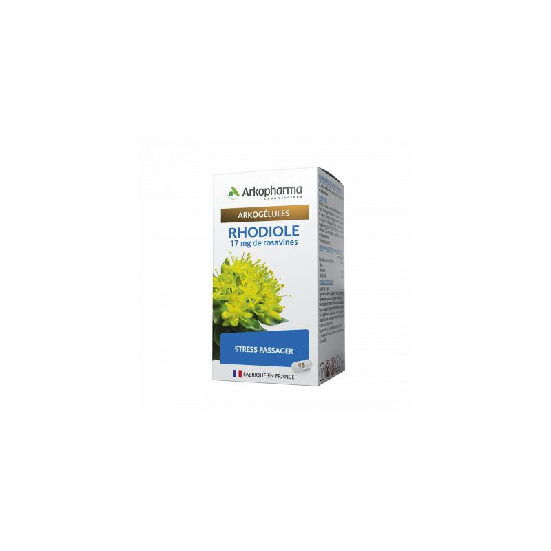 Arkogélules Rhodiole Boîte de 45 gélules disponible sur Pharmacasse