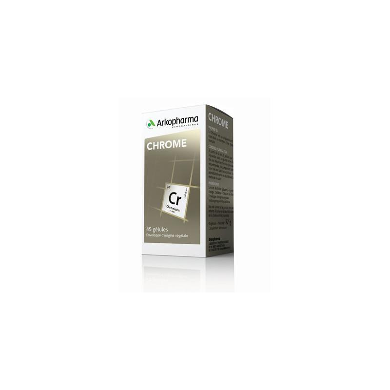 Arkogélules Chrome Boîte de 45 gélules disponible sur Pharmacasse