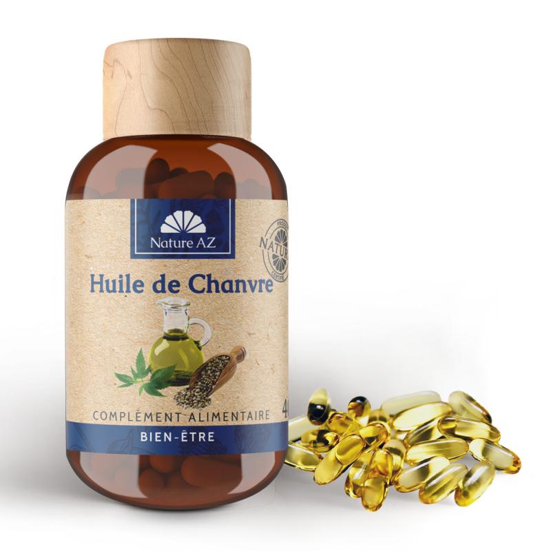 Nature AZ Huile de Chanvre Boite de 40 capsules disponible sur Pharmacasse