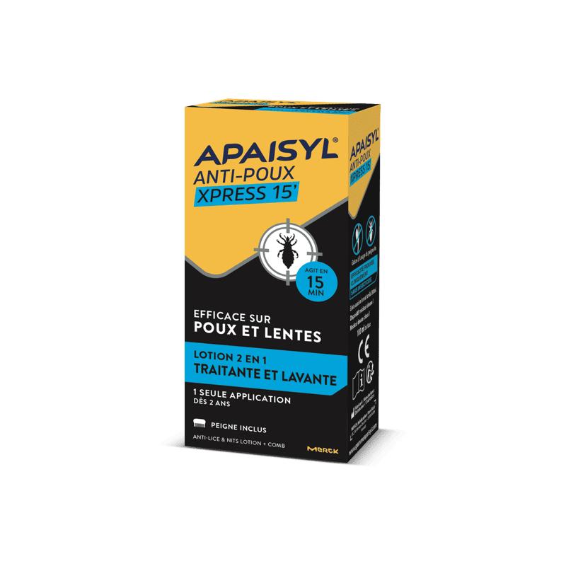 APAISYL Anti-Poux Xpress 15' 200ml disponible sur Pharmacasse