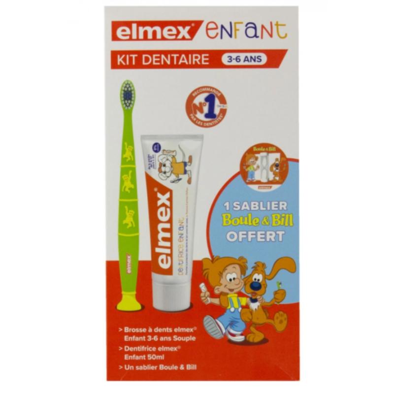 Elmex Enfant Kit Dentaire 3-6 ans disponible sur Pharmacasse