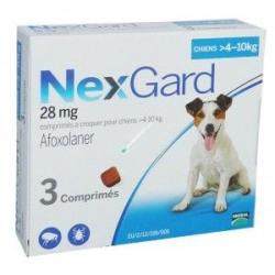 Nexgard 28mg Chiens 4-10kg...