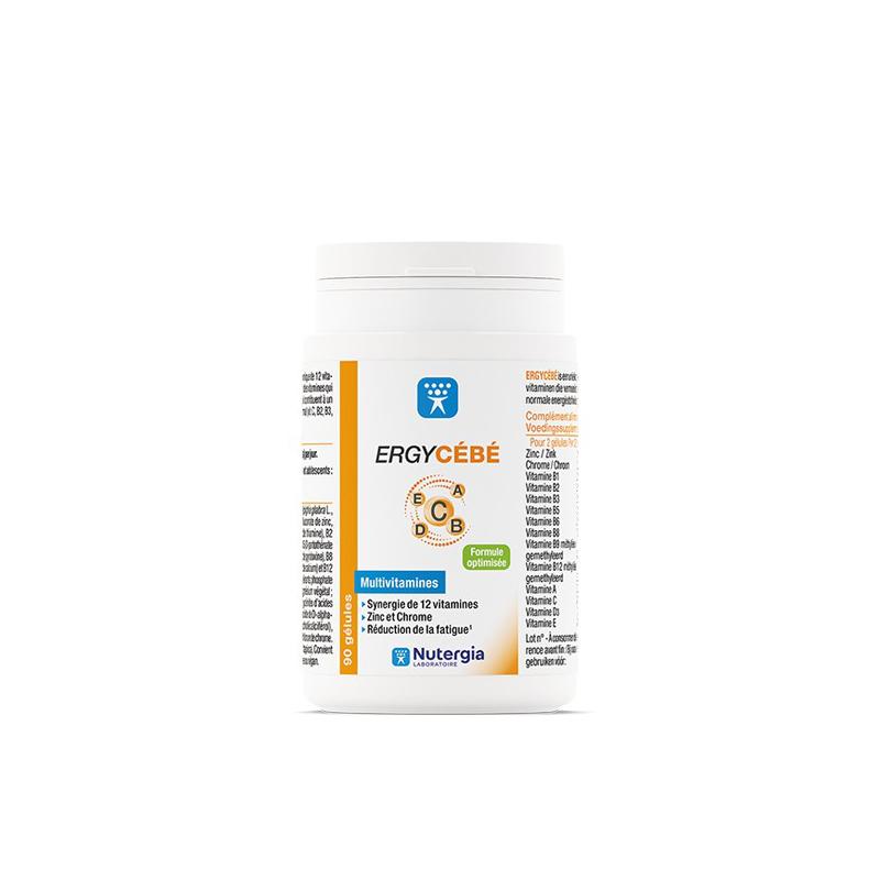 Nutergia Ergycébé Boîte de 90 gélules disponible sur Pharmacasse