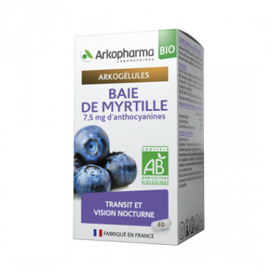 Arkogélules Baie de Myrtille Boîte de 45 gélules disponible sur Pharmacasse